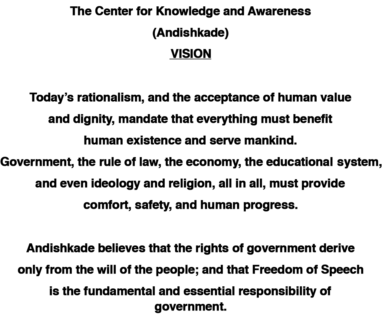 Andishkade Vision - The Center for Knowledge and Awareness